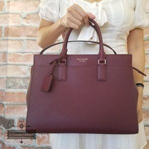 Kate spade LARGE satchel crossbody CHERRYWOOD bag